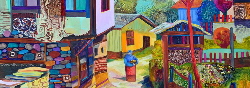 Селски къщи на картина