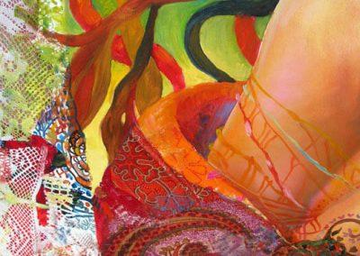 В ателието - Детайл от картината Там