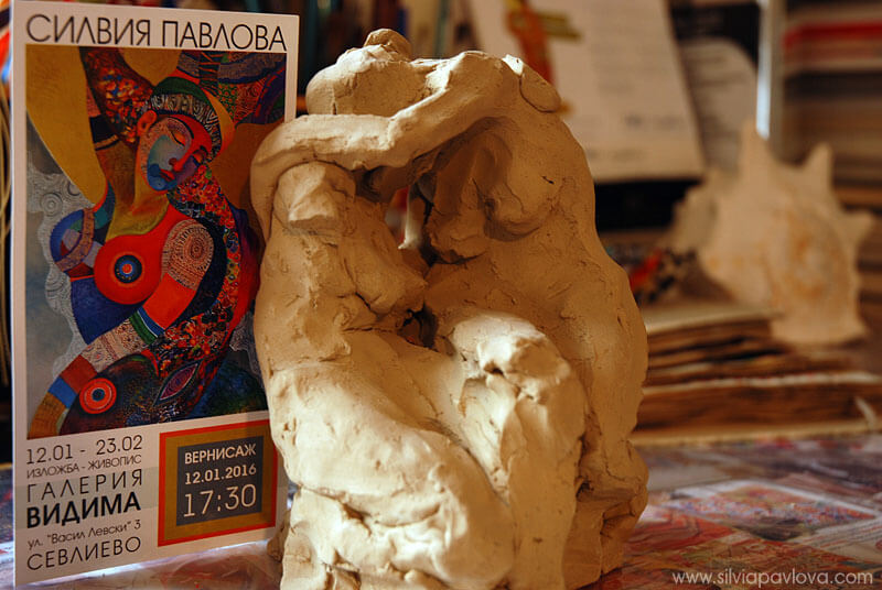 В ателието - Скулптура на Силвия Павлова