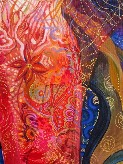 В ателието - Детайл от картината Бесове