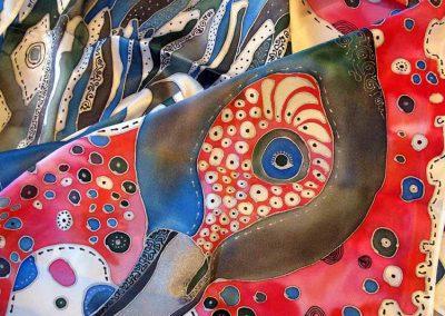 копринен шал Перната красавица