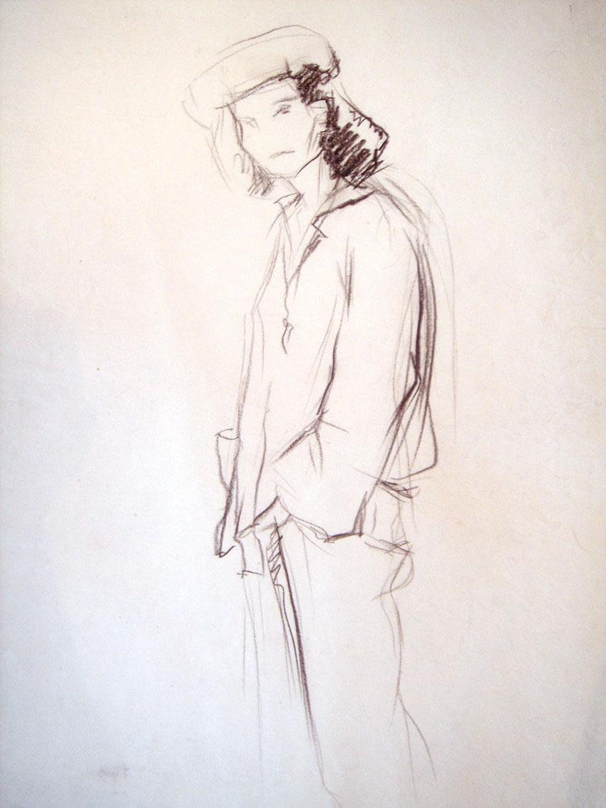 Скица на женска фигура