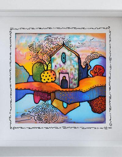 Копринена картина Езерна църква