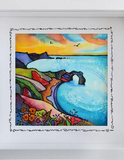 Копринена картина Морето, което ме очаква